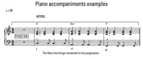 How to make piano accompaniment